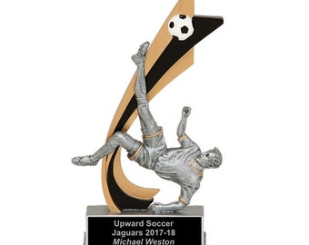 Live Action Male Soccer Resin Award - Soccer Trophy - Free Engraving - Individual Awards - Tournament Awards - Custom Engraving