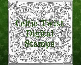 Celtic Twist Digital Stamp Set
