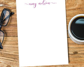 PERSONALIZED NOTEPAD, Personalized Note Pad, Writing Pad, Personalized Stationery, Custom Notepad, Custom Note Pad, Custom Stationery