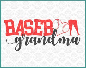 CLN0344 Baseball Grandma MiMi MawMaw Family Parents Shirt SVG DXF Ai Eps PNG Vector INstant Download Commercial Cut File Cricut Silhouette