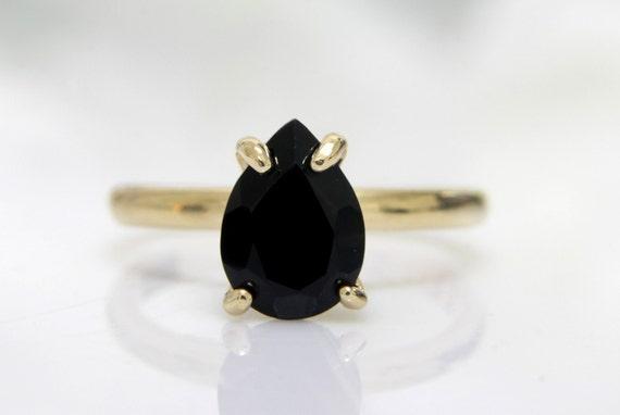 gold ringblack diamond ringblack onyx ringteardrop