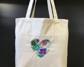 Love of Succulents Tote Bag
