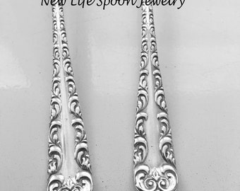 "Spoon Bracelet ""Majestic"" Handmade Valentine Gift Vintage Jewelry Spoon Ring Fork Jewelry Silverware Jewelry Spoon Handles-473"