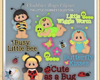 Baby Clipart, Chubbies Bugs