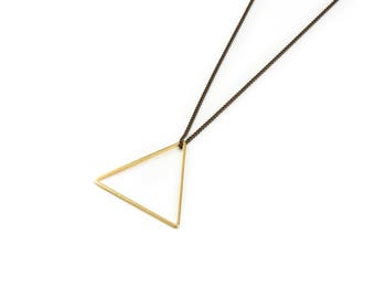 Vintage Brass Large Triangle