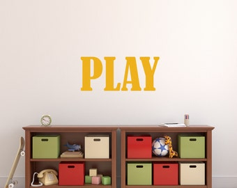 Playroom Decal | Play Room Decal | Playroom Sign | Play Decal | Play  Sticker |
