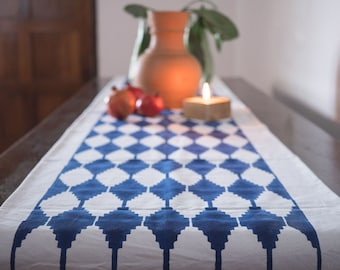 Hand Block Printed Canvass Table Runner