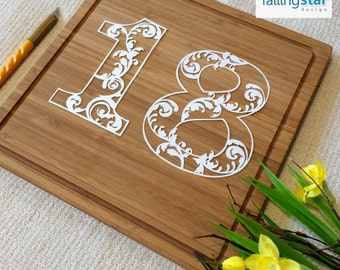 Baroque Style 18 number Papercutting Template