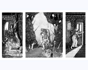 Cycles Of Degeneracy - Hand Drawn Pen and Ink Illustration - DOWNLOAD