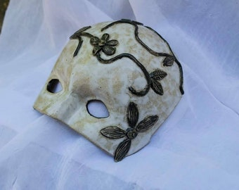Black and white ceramic mask