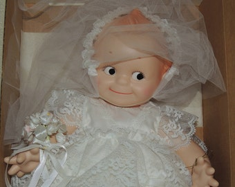 KEWPIE Bride Doll by Jesco The Original Cameo Dolls NRFB Dated 1983