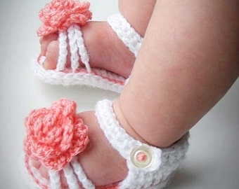Crochet baby girl sandals, baby girl shoes, crochet baby sandals, crochet baby shoes, summer baby sandals, baby shower, baby slippers