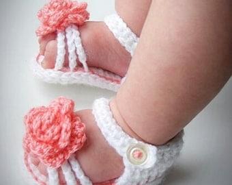 Crochet baby girl sandals, baby girl shoes, crochet baby sandals, crochet baby shoes, baby shower