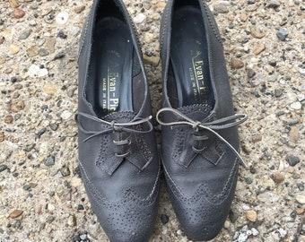 VTG Italian Leather Flats - Size 6.5B