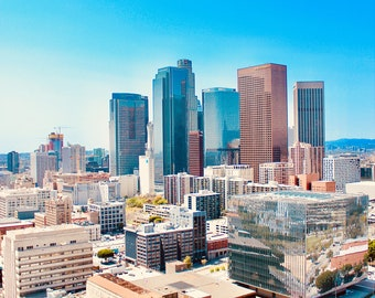 Downtown Los Angeles Skyline Photo Poster Print of DTLA