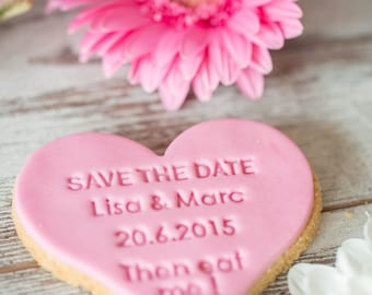 Save the date - stamp of cookie / fondant stamps