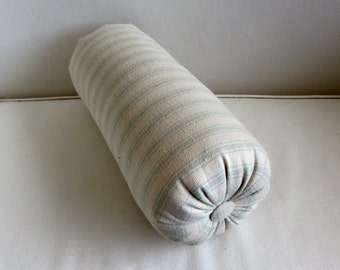BOLSTER PILLOW Grain Sack spa/seafoam Stripes lumbar accent throw 6x14 6x16 6x18 6x20 6x22