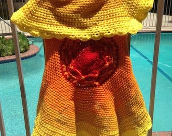 Crochet Pattern, Circle Jacket, Sunburst Jacket Pattern, How to Crochet, PDF Pattern, How to Crochet, Vest Crochet, Jacket Crochet