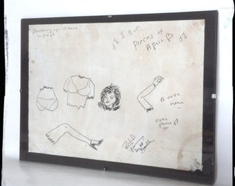 Aged reproduction drawing by Richard Ramirez The Nightstalker.