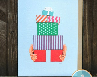 Gift Pile -- Birthday / Holiday / Celebration card from The Nic Studio