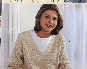 """Crocheted Patterns """"Fashion Collection"""" from Leisure Arts  Six Designs Kay Meadows"""