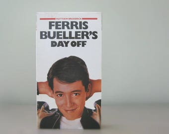 1980s Ferris Bueller's Day Off VHS Movie Directed by John Hughes, Classic 80s Film Gift for Movie Lover, Save Ferris
