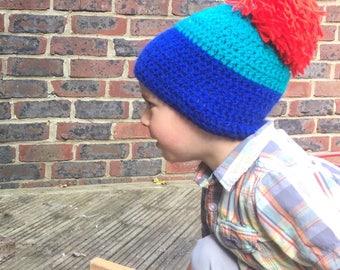 Kids Bobble Beanie - Beanie Hat - Kids Hats - Kids - Kids Gift - Boys Hat - Girls Hat - Crochet Hat - Cosy Hat - Bobble Hat - Bobble Beanie