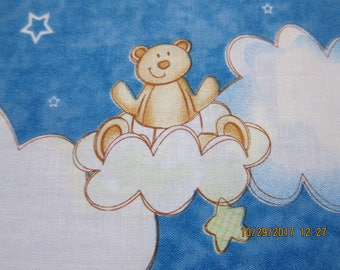RARE TEDDY BEAR Fabric - Button-up Bears by Kylie Kreations for Southsea Imports - 1 yard - k14