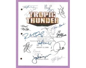 Tropic Thunder Movie Script Autographed Signed: Ben Stiller, Robert Downey Jr., Jack Black, Jay Baruchel, Nick Nolte, Tom Cruise, Tom Hanks