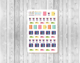S127 - 50 Planning Time! ~ Washi Tape, Pencil Cup, Pen Case ~ Planner Stickers