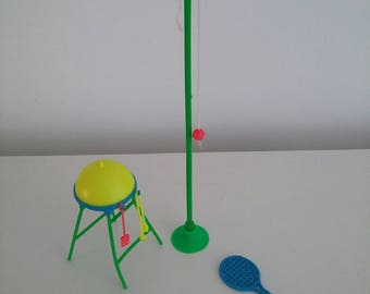 vintage barbie swing ball with bat and BBQ for mattel barbie dolls rare collectables.