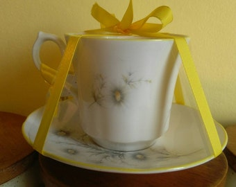 Bone china teacup candle with soya wax