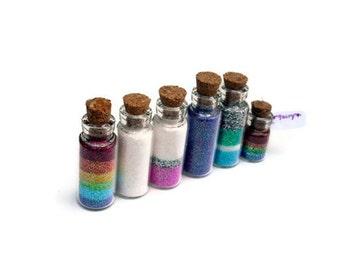 Fairy Jars, Magic, Pixie, Wishing Vial, Princess, Cork Jar, Faerie, Faery, Castle, Wish, Glitter, Powder