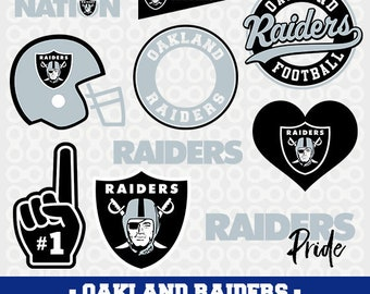 Oakland Raiders logos in SVG / Eps / Dxf / Jpg / Pdf / Png files INSTANT DOWNLOAD!