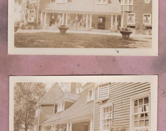 Vintage Photo Set, Stone Ridge, NY, Fairfax House, 1934,  New York History, Architectural Photography, Architecture, Garden, flowers