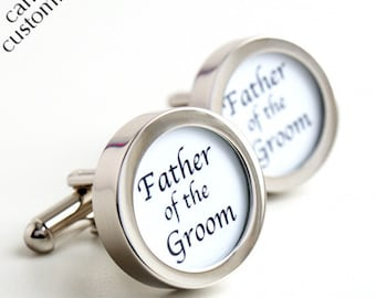 Father of the Groom Cufflinks Wedding Cufflinks PC187