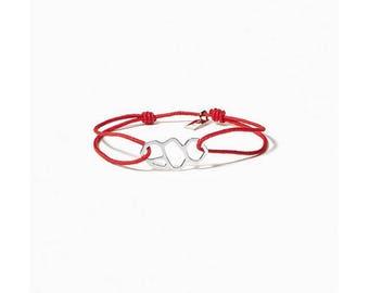 Red Marseille/Mucem Silver Link Bracelet