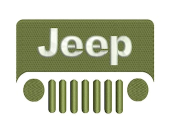 Jeep Embroidery Design - 4 sizes instant download