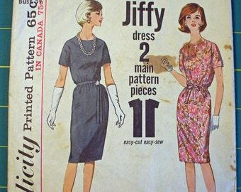 Vintage Simplicity pattern Misses size 14  Dress 1964