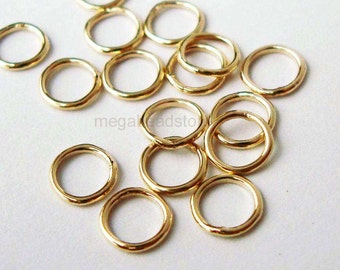 50 pcs 5mm 22 Gauge Closed (Soldered) Jump Rings 14/20 Gold Filled F29GFC