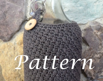 Instant Download - Beer Growler Cozy Crochet Pattern - 64 oz Half Gallon size - May sell finished product