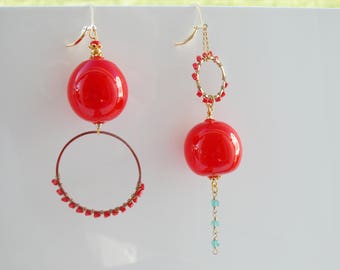 Murano Quirky Blown Glass Statement Earrings