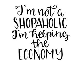 Not a Shopaholic Vinyl Car Decal Bumper Window Sticker Any Color Multiple Sizes Jenuine Crafts