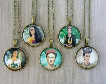 Frida Kahlo Necklace (Bronze or Silver)