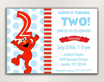 Elmo invitations etsy stopboris Choice Image