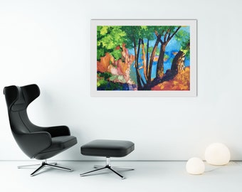 "Mediterranean Forest II– Original Oil Painting on Paper – 37,7""x26,7"" (96x68 cm)"
