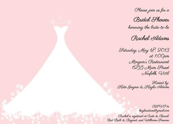 Wedding Dress Bridal Shower Invitation