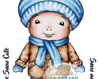 Winter Baby Luka Rubber Stamp