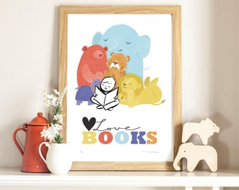 Limited Edition Print 'Love Books'