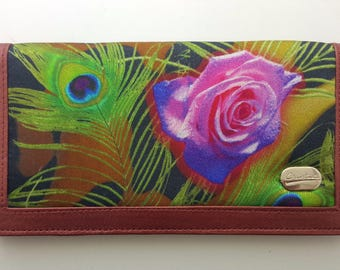 India silk wallet - handmade